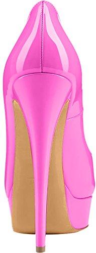 Trusify Mujer 15cm EU tamaño 34-46 Truthunder Tacón de aguja 15CM Sintético Sandalias de vestir Rosa