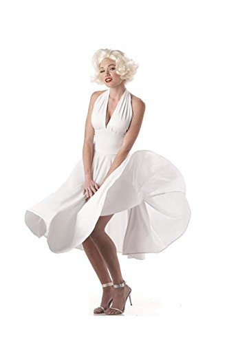 California Costumes Women's  Marilyn Costume,White,Medium ()
