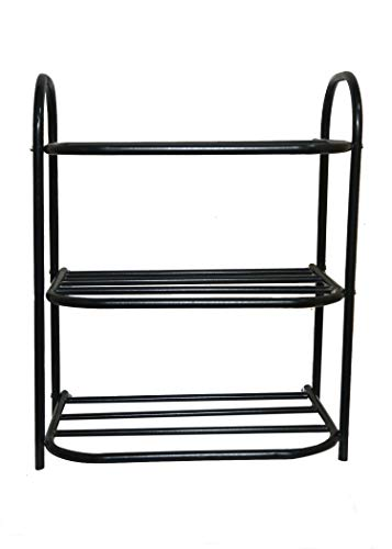 RMA Handicrafts Steel Shoe Rack Black  Standard