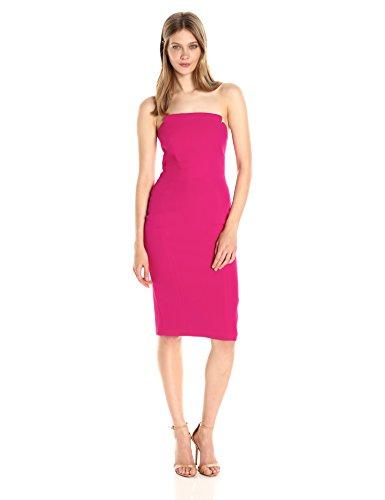 Jill Jill Stuart Women's Strapless Column Midi Dress, Punch, ()
