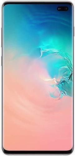 "Samsung Galaxy S10 + Plus (128GB, 8GB) 6.4"", IP68, AT&T Unlocked, US + Global GSM / CDMA (AT & T / T-Mobile / Verizon / Sprint) G975U w / US Warranty (White, 128 GB)"