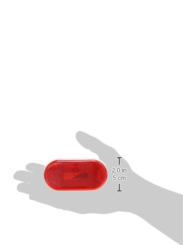 Built-in Reflector Grote 46712 Red Single-Bulb Oval Clearance Marker Light