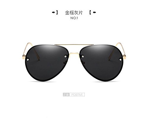 Las De Para De Sol hoja Sapos De Amantes Los Gafas Metal Gafas Sol Hombres Marco Plateado de Gafas Marco Frame dorado ceniza Sol JUNHONGZHANG De Big De Gafas Translúcido Comprimidos xId00nq