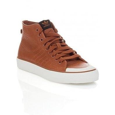 fb120f4e63707c ADIDAS ORIGINALS NIZZA CLASSIC 78 LEATHER TRAINER TAN uk 8  Amazon.co.uk   Shoes   Bags