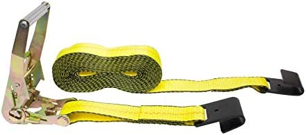 PROGRIP 310800 Heavy Duty Ratchet Tie Down with Large Bar Handle and Webbing Strap J-Hooks 40x 2