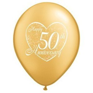 50th Wedding Anniversary Balloons ((12) 50th Anniversary Latex Balloons 11