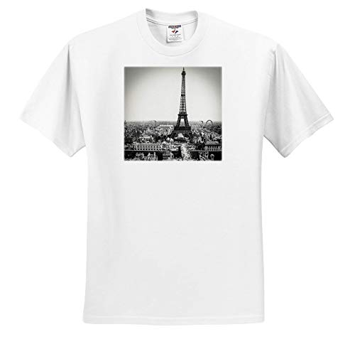 Scenes from The Past - Magic Lantern - Vintage Magic Lantern Slide Eiffel Tower Paris France 1889 - T-Shirts - Adult T-Shirt Small (ts_301270_1)