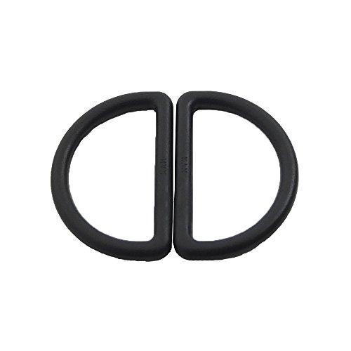 Bluemoona 100 PCS - Plastic D Dee Rings for Webbing Belt Buckles Bag 38mm