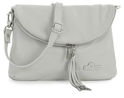 Messenger Soft Shoulder LIATALIA Body Size AMY Medium Bag Cross Real Small Italian Cream Leather cr6IE1Iy