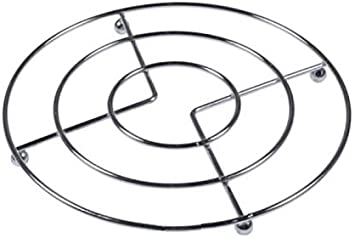 Set of Chrome Trivet Round 17cm Hot Pots Pans Stand Kitchen Surface Worktop Protector Hot Pots Pans Dishes Plate Holder Cooling Rack 1pc