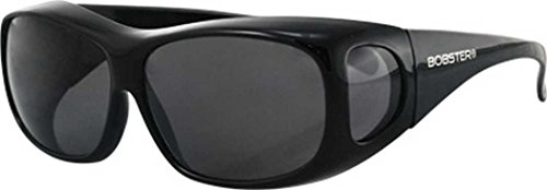 Sunglass Condor Otg - Bobster Condor 2 Standard Black Frame Sunglasses with Smoked Lenses ECDR002