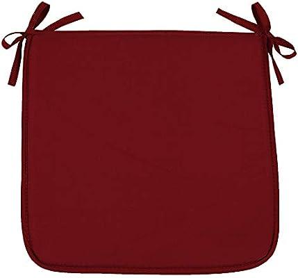 SIMPVALE - Juego de 4 Cojines para Sillones Cojín para Silla de jardín, 40x40x3cm, Rojo Oscuro: Amazon.es: Hogar