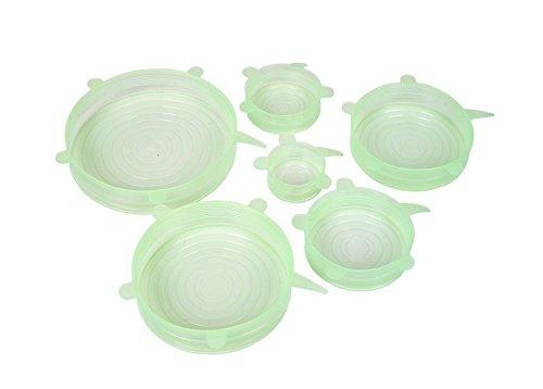 Ulooie silicone stretch pan copertura stretch coperchi utensili da cucina verde