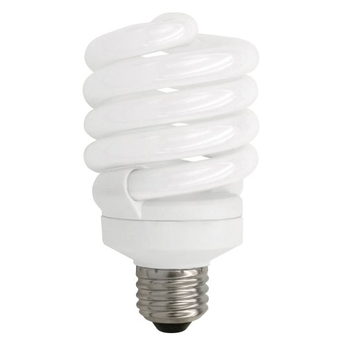 TCP 5012350K CFL SpringLamp - 100 Watt Equivalent (only 23W used) Daylight (5000K) TruDim Dimmable Spiral Light Bulb (Cfl Springlamp)