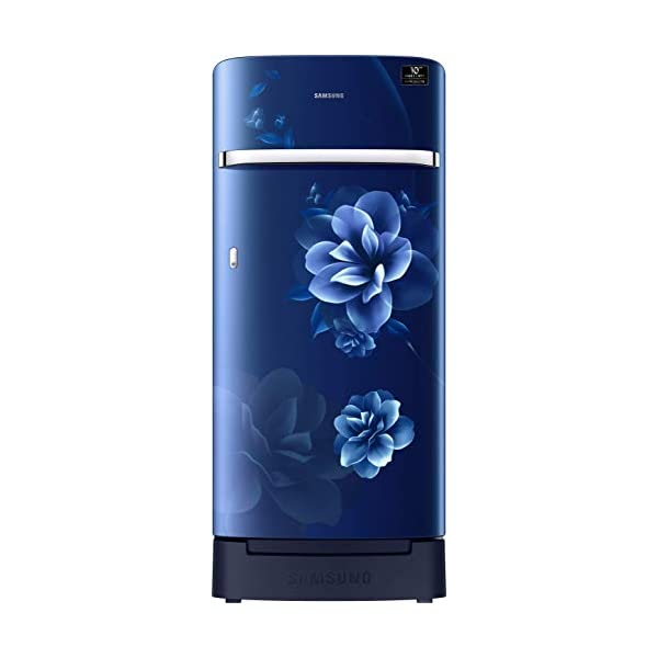 Samsung 198 L 4 Star Inverter Direct-Cool Single Door Refrigerator (RR21T2H2XCU/HL, Camellia Blue, Base Stand with… 2021 July Direct-cool refrigerator : Economical and Cooling without fluctuation Capacity 198 liters: Suitable for families with 2 to 3 members and bachelors Energy rating 4 Star : high efficiency model