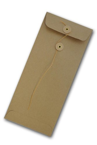 Brown Bag Kraft Envelopes No. 10 String & Button Closure