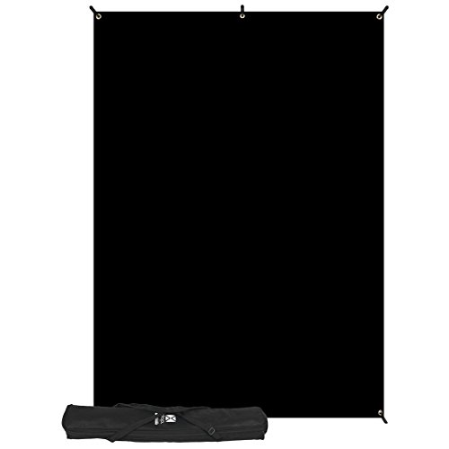 Westcott 578K X-Drop Kit with 5 x 7 Feet Black Backdrop - Black ()