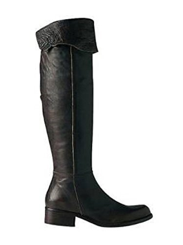 Overknee Stiefel von Apart Leder in Dunkelbraun Dunkelbraun