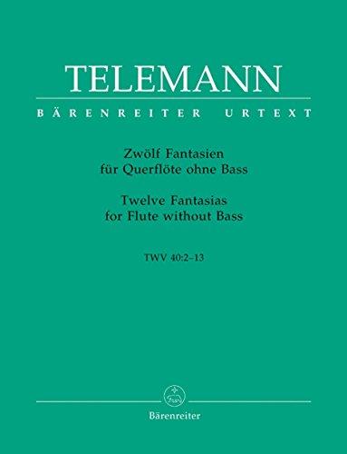 Telemann: Twelve Fantasias for Flute, TWV (Telemann Flute)