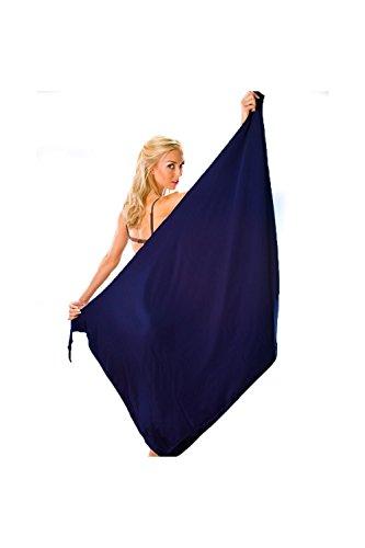Camille - Pareo largo para la playa - Azul marino Azul marino
