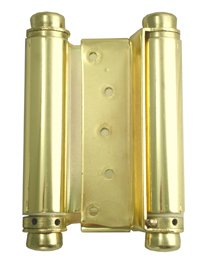 Stone Harbor Hardware, Heavy Duty Double Acting Spring Hinge (6-inch, Brass)