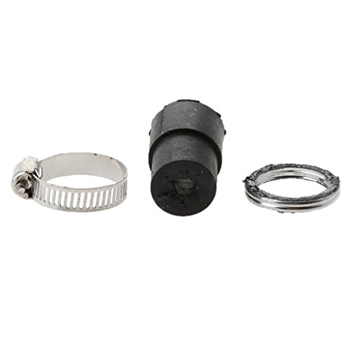 Sharplace New Motor Exhaust Muffler Pipe Assembly Gasket Rubber with Seal Clamp Set for Yamaha PW 50 PW50: