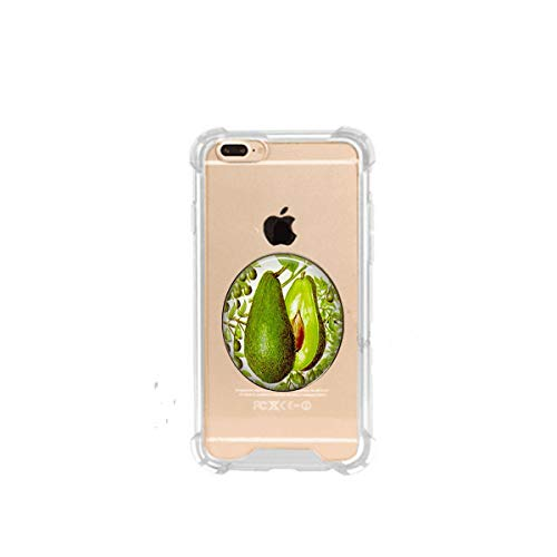 hars Avocado Vintage Lithograph Image - Herbivore - Vegan - Guacamole, 3D Printed Soft Clear Cute Ultra Slim Case Unique Customized ,Everyday Gift