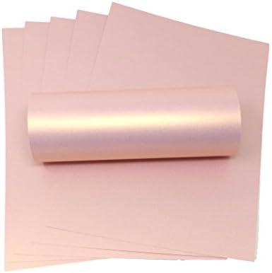 Syntego Papier, A4, Roségold, Perlglanz, dekorativ, 120 g/m², doppelseitiges Papier