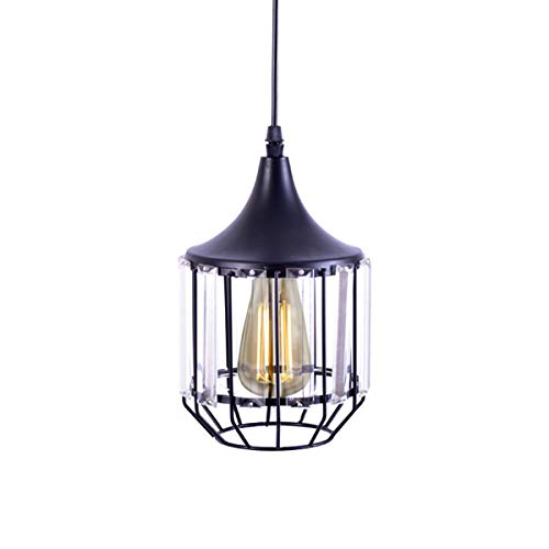 (Mini Pendant Light,Oil Rubbed Bronze Finish with Crystal Prism Glass for Kitchen)