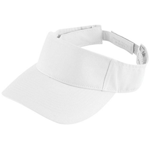 High Five Youth Sport Twill Visor YTH White - Youth Sport Twill Visor
