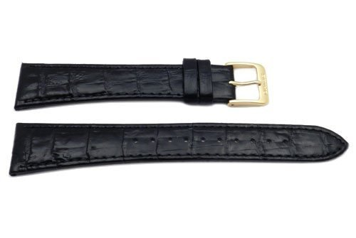 Seiko-Black-Leather-Alligator-Grain-20mm-Watch-Band