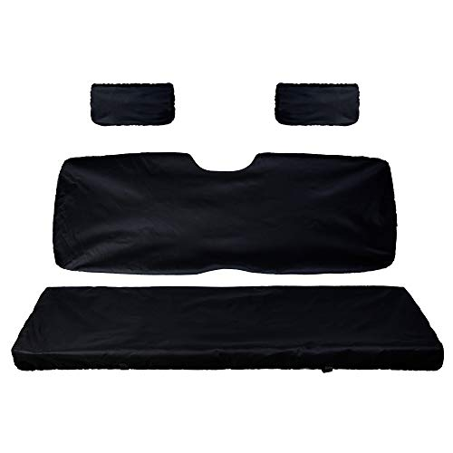UTV Bench Seat Cover Set with Back Seat Cover for Polaris Ranger 500 700 ()