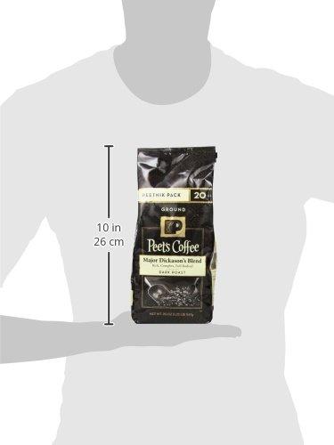 Peet's Coffee, Peetnik Pack, Major Dickason's Blend, Dark Roast, Ground Coffee, 20 oz. Bag, Rich, Smooth, and Complex Dark Roast Coffee Blend With A Full Bodied and Layered Flavor by Peet's Coffee (Image #6)