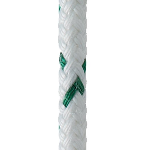 New England Ropes 10' of 7/16'' (11mm) Sta-Set X Green Fleck