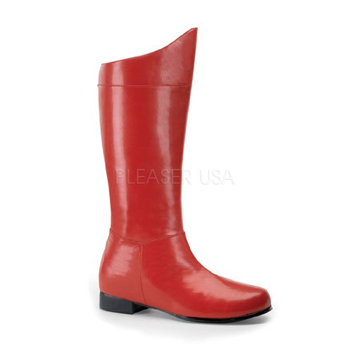Mens Superhero Red Halloween Boots XL Size 14 - Sexy Superhero Boot