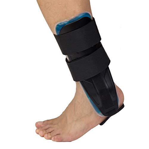 Gel Stirrups Ankle - Gel Ankle Stirrup Brace, Ankle Stabilizer Can Wear on Shoes with Ergonomic Splint for Sprain Arthritis Pain Dislocation Fracture Severe Injury Relief-Black ...