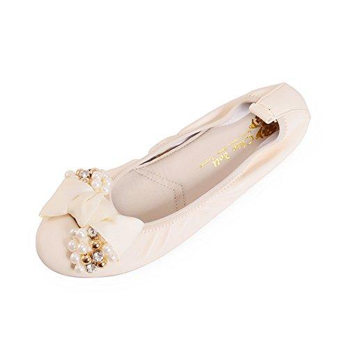 Dulce arco que primavera zapatos al final de las habas/Taladro superficiales plana planos zapatos A