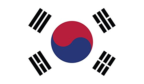 - JMM Industries South Korea Flag Vinyl Decal Sticker 대한민국/大韓民國 Korean Car Window Bumper 2-Pack 5-Inches by 3-Inches Premium Quality UV-Resistant Laminate PDS536
