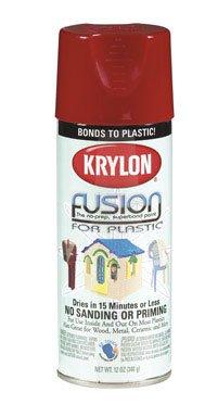 Krylon K02328001, 12 oz. Aerosol Can, Gloss Safety Red