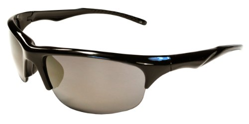 CLEARANCE!!! Hilton Bay A77 Sunglasses Wrap Style UV400 Lens for Baseball, Softball, Cycling, Golf, Kayaking and All Active Sports (Black & - Glasses Sun Clearance