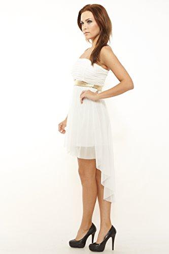 68e3bd46c8f0 Sexy Vokuhila Kleid Partykleid, Abendkleid, Cocktailkleid aus Feintüll,  verschiedene Farben Cremeweiss ...