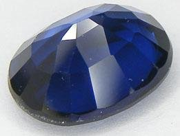Blue Created Sapphire Excellent Cut Oval 13mm