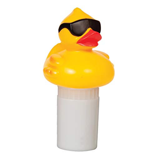 GAME Derby Duck Mid-Size Pool Chlorinator; Expandable Basket; 3-Tablet Chlorine Dispenser; Three Tablet Capacity; Above- or Inground Pool Use; Adjustable Dispensing Rate