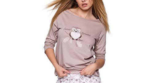 Composé L'ue Confortable Fabriqué Avec Pantalon Sensis Chic Noble tenue T shirt Dans D'intérieur blanc Et Pyjama Moka Par Hibous fqIw6
