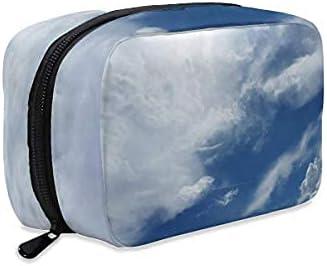 Sky Clouds Atmosphere Air Oxygen Bolsa de maquillaje con cremallera, bolsa de aseo de viaje, accesorios de cosméticos, bolso organizador grande portátil para mujeres y niñas