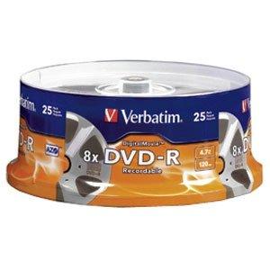 VERBATIM 25PK DVD-R 8X 4.7GB DIGITALMOVIE SPINDLE / 94866 /