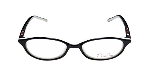 Thalia Angel WomensLadies Ophthalmic Exclusive Designer Full-rim EyeglassesEyeglass Frame (46-15-133 Black  White)