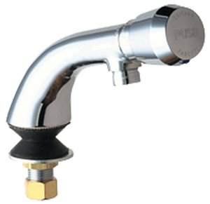 Chicago Faucets 807-E12-665PAB Single Supply Hot/Cold Water Basin Faucet with, Chrome