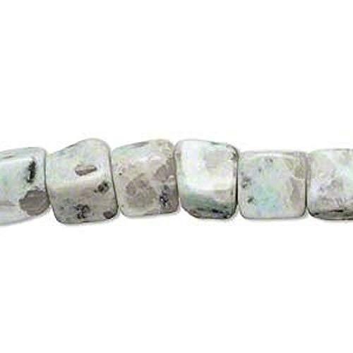 1 Strand Natural Sesame Jasper 8mm Cube Gemstone Beads Crafting Chain Bracelet Necklace Jewelry Accessories Pendants ()