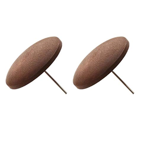 1 Pair Hot Jewelry Earings Party Eardrop Brown Antique Round Wood Stud ()